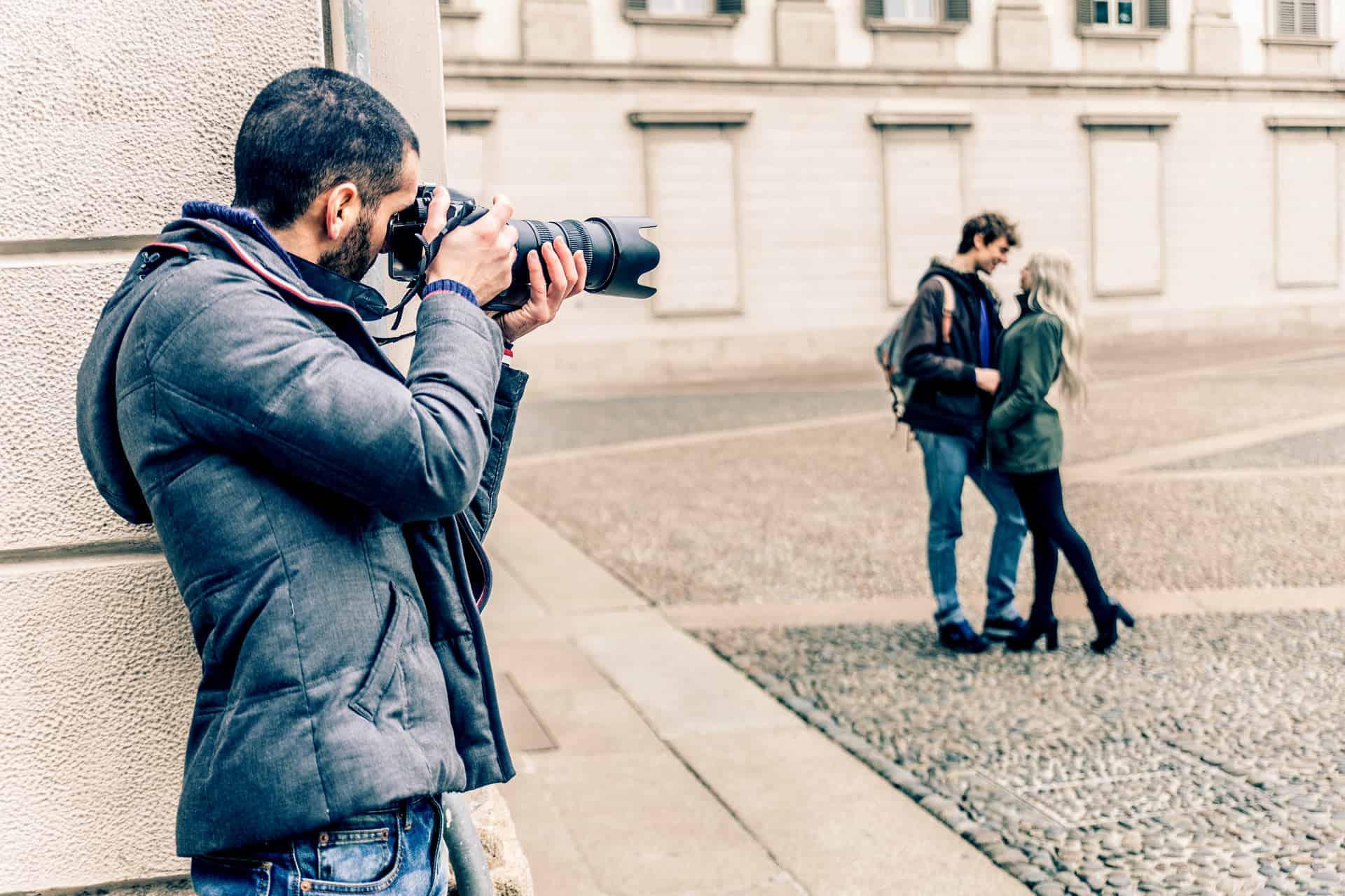 PI taking photos in JHB